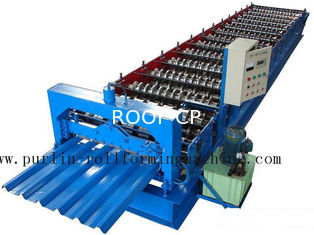 Professional Steel Metal Sheet Cold Roll Forming Machine , Roof Panel Roll Former 5 Ton